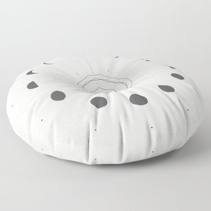 Moon Phases Light Floor Pillow