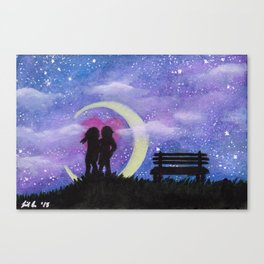 Galactic Lovers Canvas Print