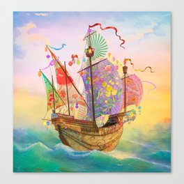 The Dreamship Gallivant Canvas Print
