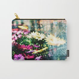 Flower and glass Carry-All Pouch