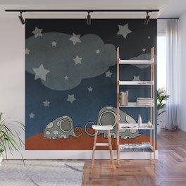 The Night of Grey Elephants Wall Mural