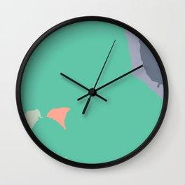 PAKKA - Mid Century Modern Abstract Green Wall Clock