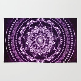 Purple Glowing Soul Mandala Rug
