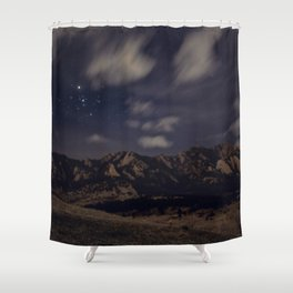 Boulder at Night Shower Curtain