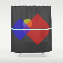 Mountain Range Shower Curtain