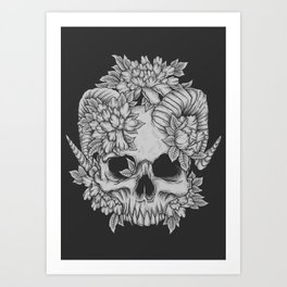 Japanese Skull Art Print