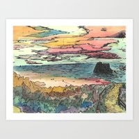 WestCoastScape Art Print