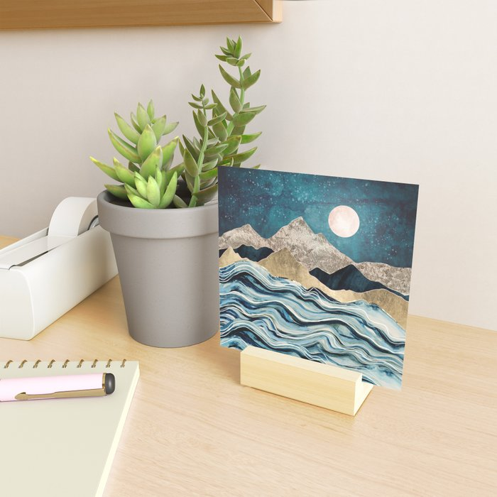 Indigo Sea Mini Art Print