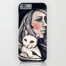 Girl and cat iPhone 6s Slim Case