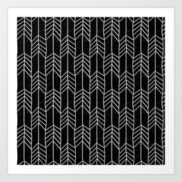 Arrows in Black Art Print