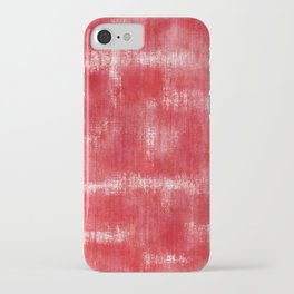 Red and White Grunge Abstract iPhone Case