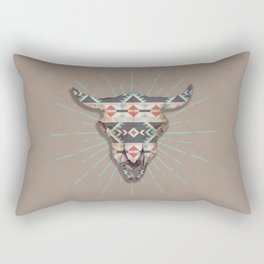 Cow Skull Induco Rectangular Pillow