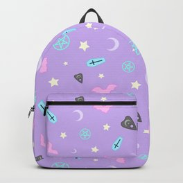 Pastel Goth Occult Pattern Backpack