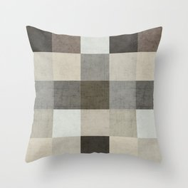 color block - gray Throw Pillow