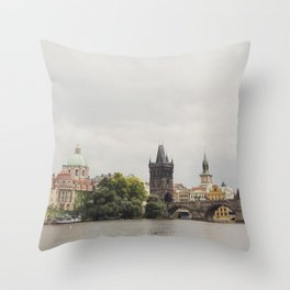 The Charles Bridge Throw Pillow