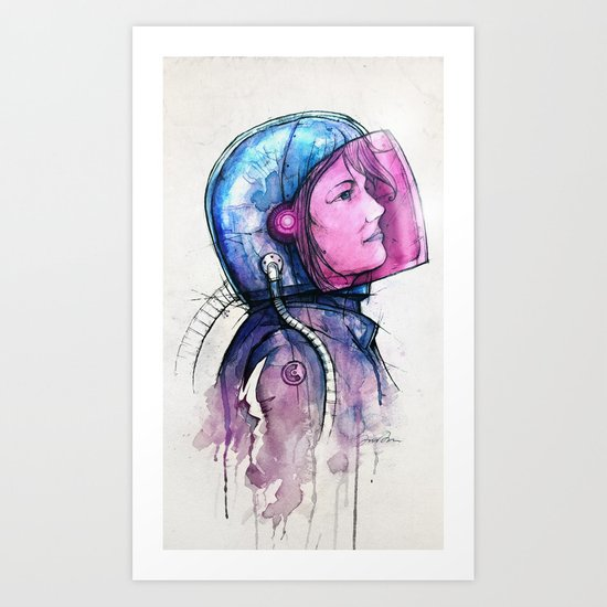 In Space No One Can Hear You Dream Art Print
