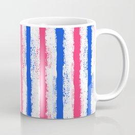 pink no blue bounding splatter stripes Coffee Mug
