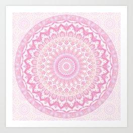 Frosted Pink Mandala Art Print