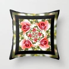 Roses of Romance Throw Pillow