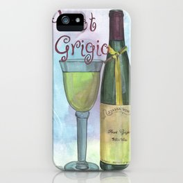 Watercolor Wine iPhone Case