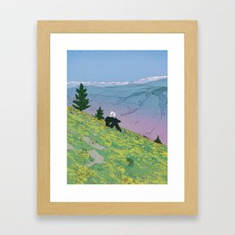 Alone Not Lonely Framed Art Print