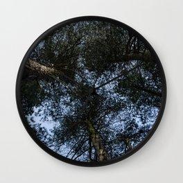 Pine Tree Treetops Wall Clock