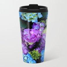 Colorful Flowering Bush Metal Travel Mug