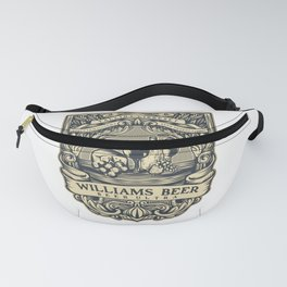 Williams Beer, art for drinkers Fanny Pack