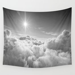 Clouds Gray & White Wall Tapestry