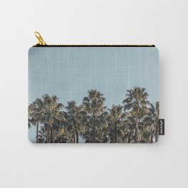 California Beach Vibes // Tropical Palm Trees Dusty Blue Sky Travel Photograph Carry-All Pouch