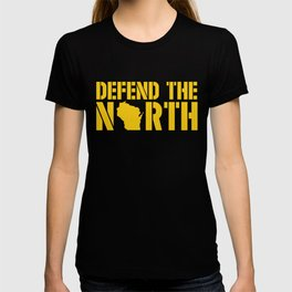 Defend the North Green Bay Yellow and Green Wisconsin T-shirt