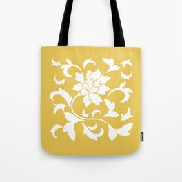 Oriental Flower - Mustard Yellow Tote Bag