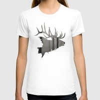 elk T-shirts featuring Elk by Jeffrey Derrick