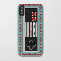 video game iPhone & iPod Cases featuring Video Game Lover : NES by The Geek Inside Me