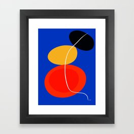 red yellow black blue abstract zen minimal art Framed Art Print