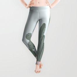 Soft Pastel Cacti Design Leggings