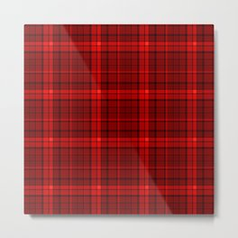 Red plaid Metal Print
