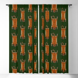 TIBETAN TIGER RUG-green Blackout Curtain