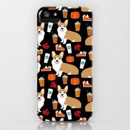 Corgi - Pumpkin Spice, psl, coffee, latte, pumpkin pie,  fall, autumn, holiday, iPhone Case