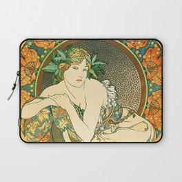 "Alphonse Mucha ""Woman with Poppies"" Laptop Sleeve"