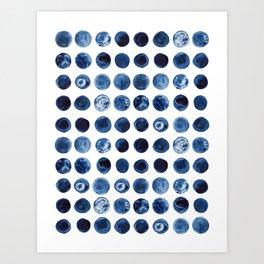 Blueberries   Watercolour Pattern Art Print