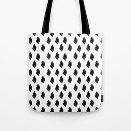 Falling for you black and white pattern Tote Bag