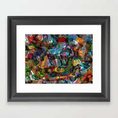 Every thought can change the day when let out in joyful play Framed Art Print