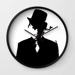 The Watcher Black/white Wall Clock