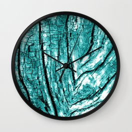 Driftwood Teal Wall Clock