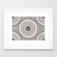 honeycomb Framed Art Prints featuring Honeycomb by Mijamona