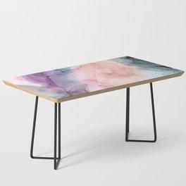 Dark and Pastel Ethereal- Original Fluid Art Painting Coffee Table