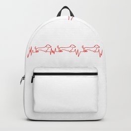 Dachshunds for Life - Red/White Backpack