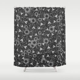 Flys and Flowers Shower Curtain