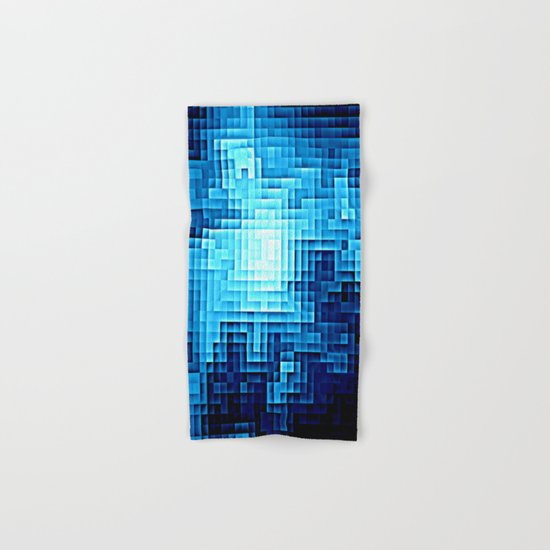 Nebula Pixel Blue Hand & Bath Towel